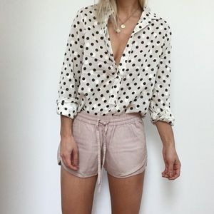 Polka dotted j. Crew blouse